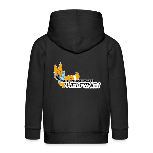 Set Phasers to Helping - Kids' Premium Zip Hoodie