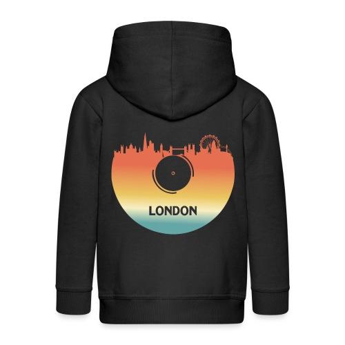 London Skyline Vinyl Schallplatte London Souvenir - Kinder Premium Kapuzenjacke