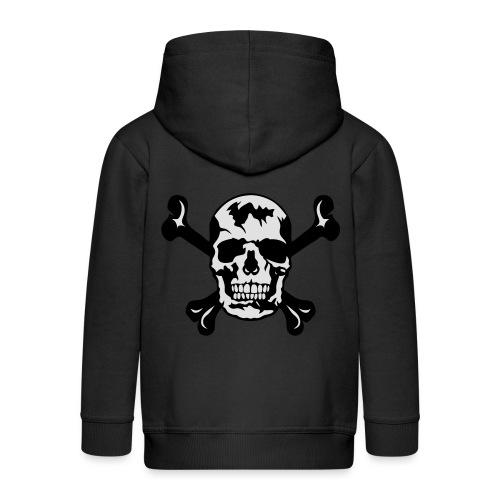tete de mort os squelette 2901 - Veste à capuche Premium Enfant