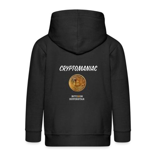 Cryptomaniac - Felpa con zip Premium per bambini