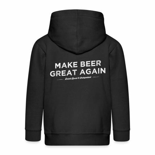 Make Beer Great Again - Kids' Premium Hooded Jacket