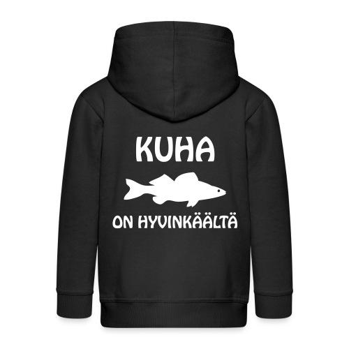 KUHA ON HYVINKÄÄLTÄ - Lasten premium hupparitakki