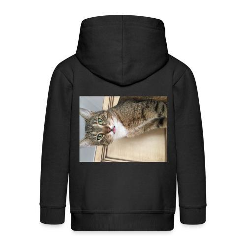 Kotek - Rozpinana bluza dziecięca z kapturem Premium