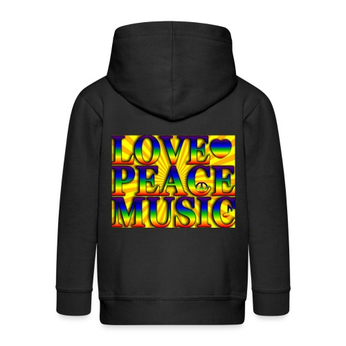 Love Peace and Music - Kids' Premium Zip Hoodie