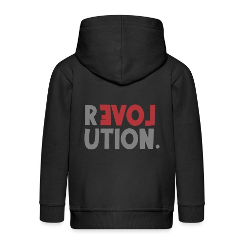 Revolution Love Sprüche Statement be different - Kinder Premium Kapuzenjacke