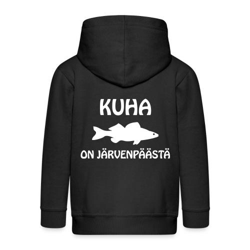 KUHA ON JÄRVENPÄÄSTÄ - Lasten premium hupparitakki