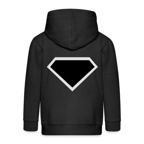 Diamond Black - Two colors customizable - Kinderen Premium jas met capuchon