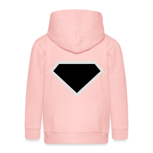 Diamond Black - Two colors customizable - Kinderen Premium jas met capuchon
