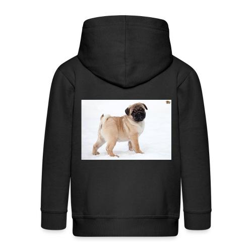 walker family pug merch - Kids' Premium Zip Hoodie