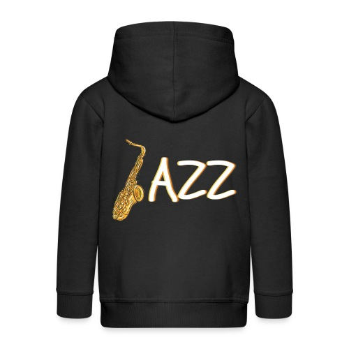 JAZZ Saxophon Saxofonist Shirt Geschenk - Kinder Premium Kapuzenjacke