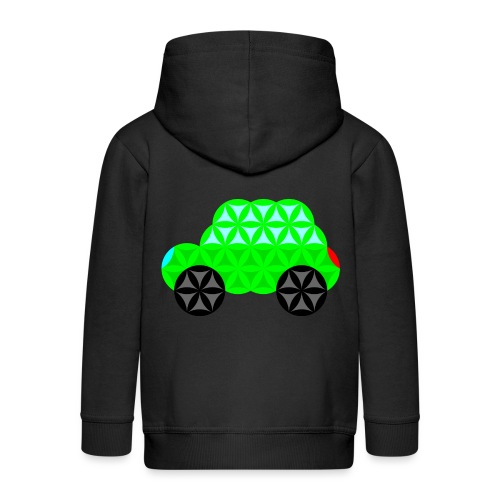 The Car Of Life - M01, Sacred Shapes, Green/R01. - Kids' Premium Hooded Jacket