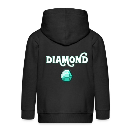 Diamond Boos - Felpa con zip Premium per bambini