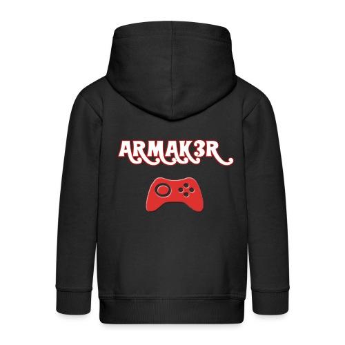 ARMAK3R - Felpa con zip Premium per bambini