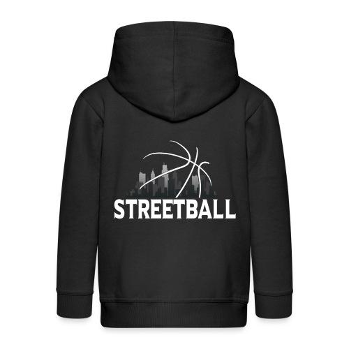 Streetball Skyline - Street basketball - Kids' Premium Hooded Jacket