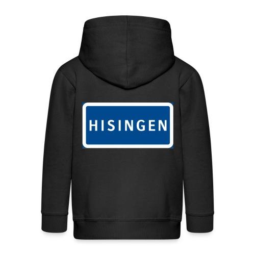 Vägskylt Hisingen - Premium-Luvjacka barn