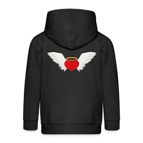 Winged heart - Angel wings - Guardian Angel - Kids' Premium Zip Hoodie