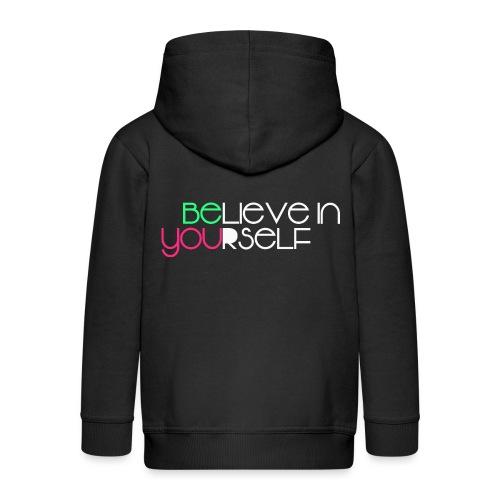 be you - Felpa con zip Premium per bambini