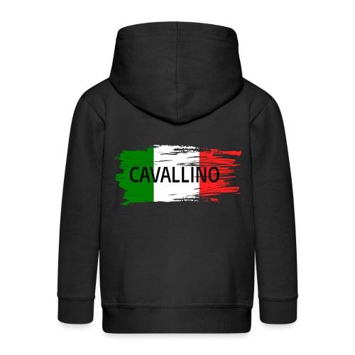 Cavallino auf Flagge - Kinder Premium Kapuzenjacke
