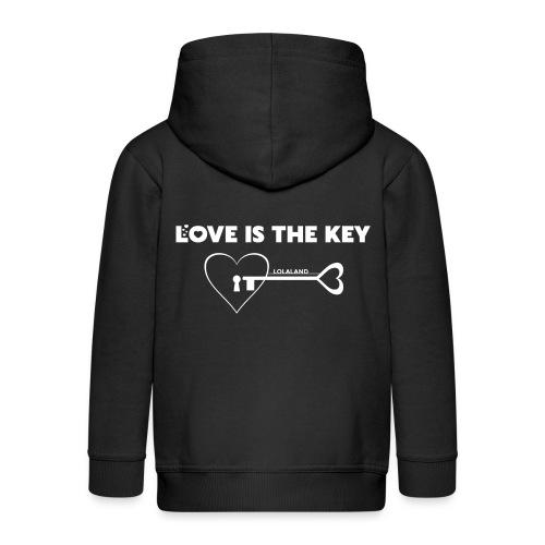 LOVE IS THE KEY - Kinder Premium Kapuzenjacke
