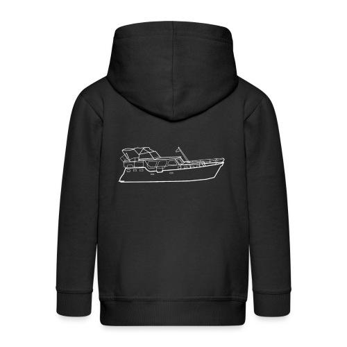 Hausboot Weiss - Kinder Premium Kapuzenjacke