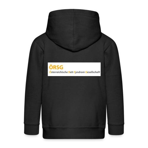 Text-Logo der ÖRSG - Rett Syndrom Österreich - Kinder Premium Kapuzenjacke