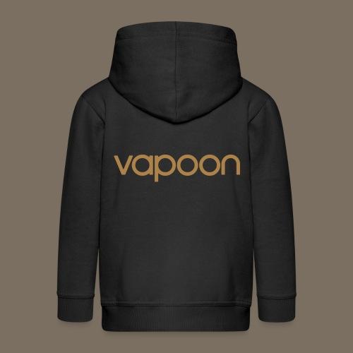 Vapoon Logo simpel 01 - Kinder Premium Kapuzenjacke
