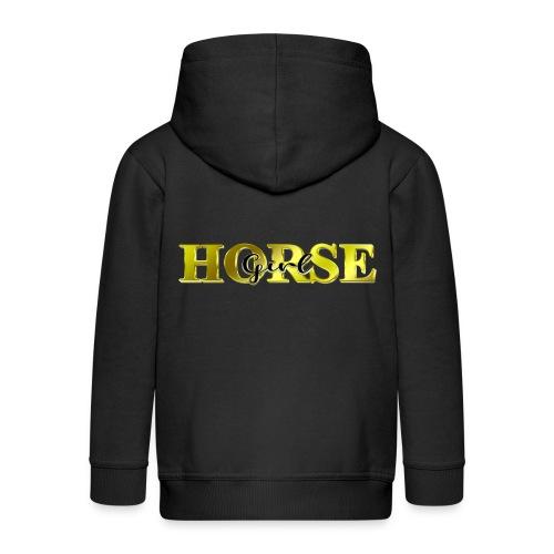 Horsegirl Reiten Pferde Geschenk - Kinder Premium Kapuzenjacke