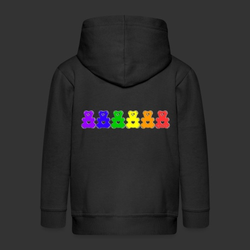 Bärenlust Regenbogen Bären-Reihe - Kinder Premium Kapuzenjacke