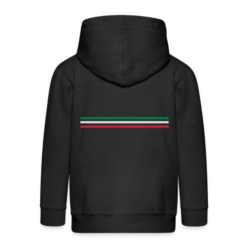 Trait italia - grand - Veste à capuche Premium Enfant