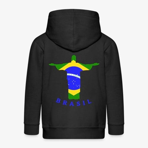 Brasil Flag Statue - Kinder Premium Kapuzenjacke