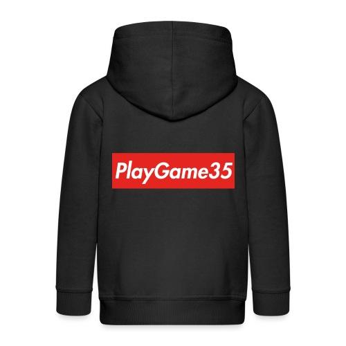 PlayGame35 - Felpa con zip Premium per bambini
