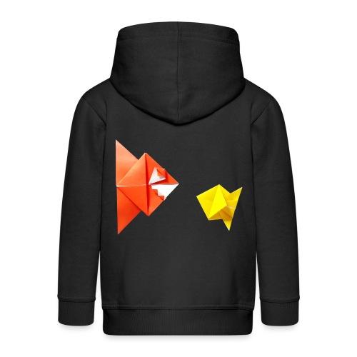 Origami Piranha and Fish - Fish - Pesce - Peixe - Kids' Premium Zip Hoodie