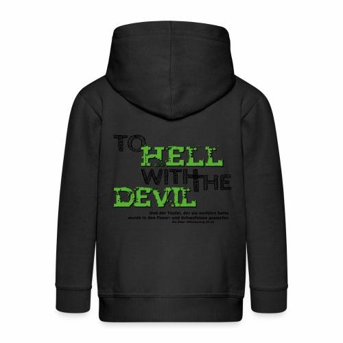 to hell with the devil grün - Kinder Premium Kapuzenjacke