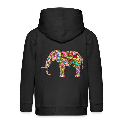 Gestandener Elefant - Kinder Premium Kapuzenjacke