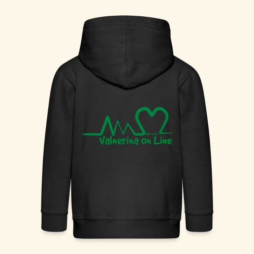 logo verde Associazione Valnerina On line - Felpa con zip Premium per bambini