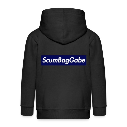 ScumBagGabe Blue XL Logo - Kids' Premium Zip Hoodie