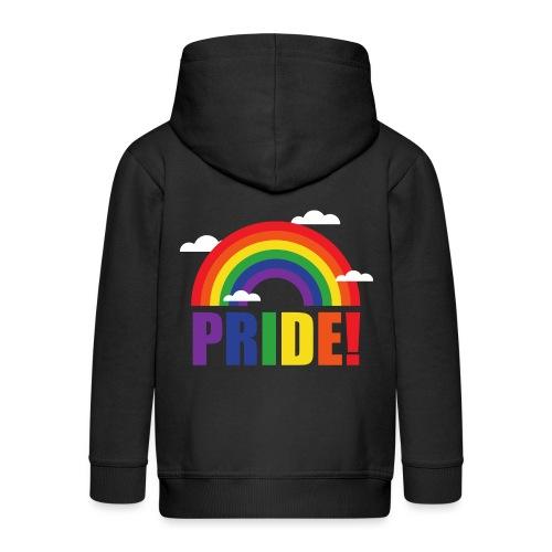 Pride Regenbogen mit Wolken | LGBT | Geschenkidee - Kinder Premium Kapuzenjacke