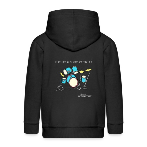 Luigi Drum White - Kids' Premium Zip Hoodie
