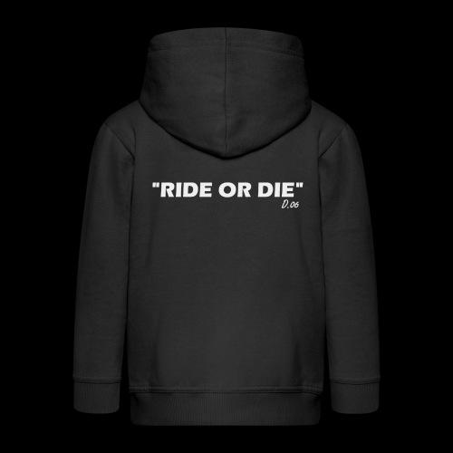 Ride or die (blanc) - Veste à capuche Premium Enfant