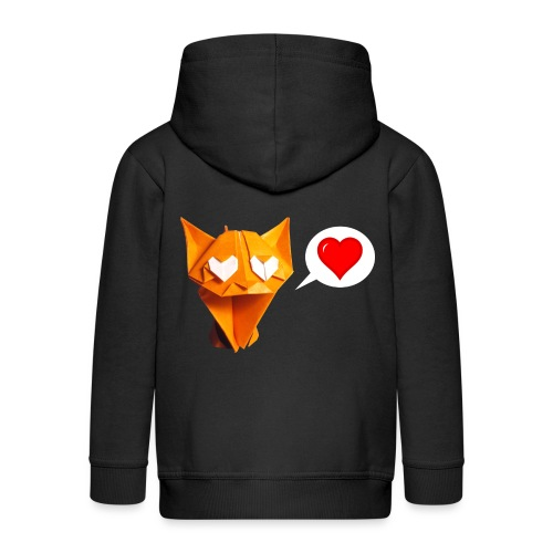 Adorable Cat Origami - Cat - Gato - Gatto - Katze - Kids' Premium Zip Hoodie