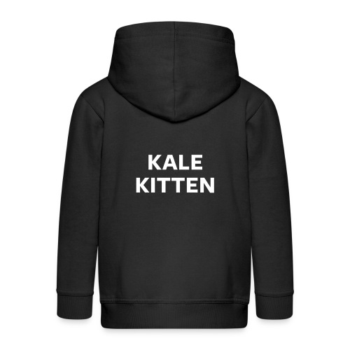 Kale Kitten Night Mode - Kids' Premium Zip Hoodie
