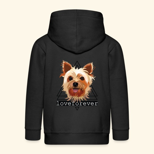 YORKIE LOVE FOREVER - Chaqueta con capucha premium niño
