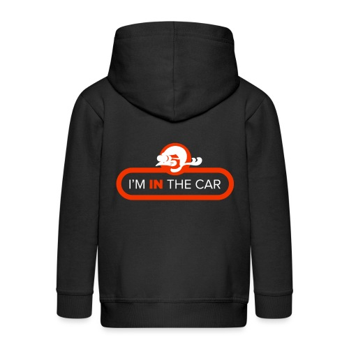 I'm in the car - Kids' Premium Zip Hoodie