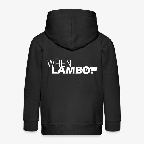 HODL-when lambo-w - Kids' Premium Zip Hoodie