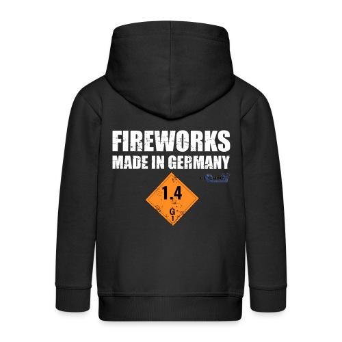 Feuerwerk aus Deutschland Pyrotechnik - Kinder Premium Kapuzenjacke