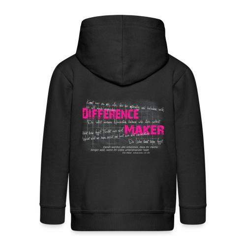 Difference Maker pink - Kinder Premium Kapuzenjacke
