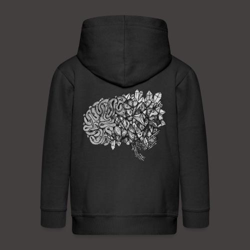 Cerveau de Cristal Noir et Blanc - Veste à capuche Premium Enfant