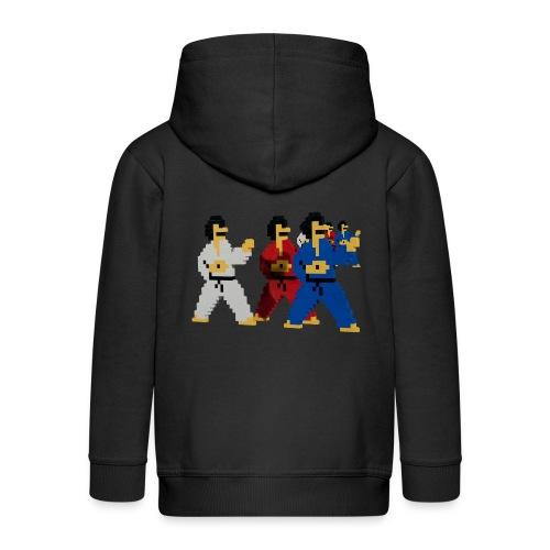 8 bit trip ninjas 1 - Kids' Premium Hooded Jacket