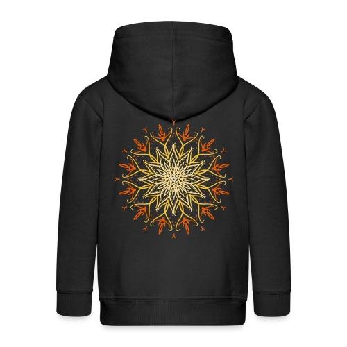 Mandala of fire - Kids' Premium Zip Hoodie