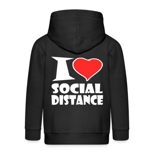 Social Distance - Kinder Premium Kapuzenjacke